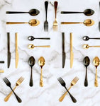 Flatware 16 pcs Stainless Steel 18/0 [Black | Gold]
