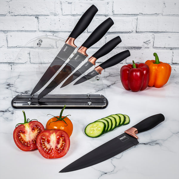 Knife Set 6 pcs with acrylic stand