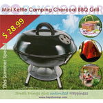 "14"" Portable Charcoal Kettle Grill - BayShoomar"