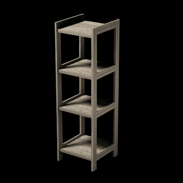 4 Tier Grey MDF Shelf - BayShoomar