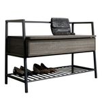 Loft bench with storage and shoe rack - BayShoomar