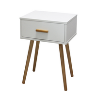 Side Table With Drawer [White | Grey] - BayShoomar