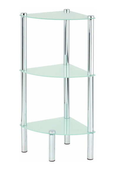 3 Tier Corner Frosted Glass Shelves - BayShoomar