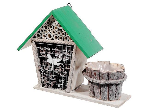 WOODEN INSECT HOTEL WITH PLANTER - BayShoomar