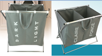 2 Compartment Laundry Sorter (Dark-Light) - BayShoomar