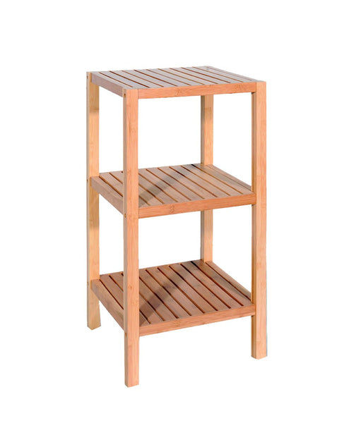 3 Tier Square Shelf [Grey | Bamboo] - BayShoomar