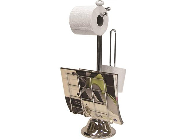 Toilet Paper Holder with Magazine Rack
