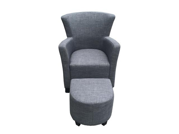 Arm Chair with Ottoman Gray - BayShoomar