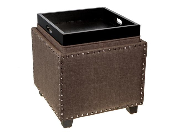 Majestic Ottoman with Storage and Flip Tray - BayShoomar