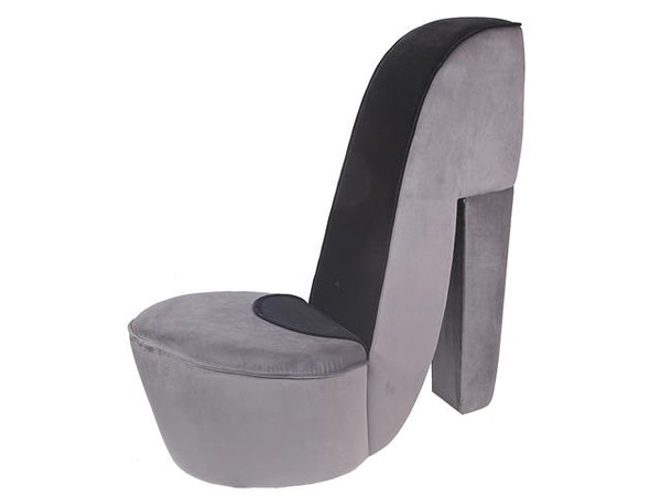 Shoe Chair Velvet Gray - BayShoomar