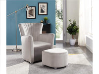 Arm Chair with Foot Stool Gray - BayShoomar