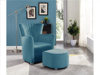 Arm Chair with Foot Stool Teal - BayShoomar