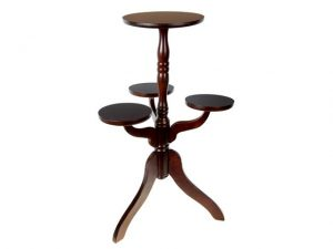 Wooden Pedestal Accent Table - BayShoomar