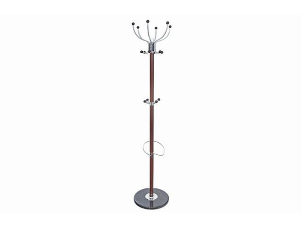Metal Coat Hanger with Marble Base | Brown