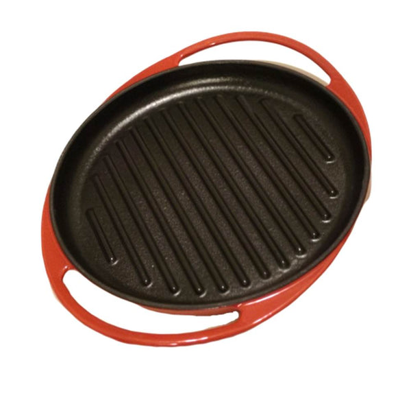 "Griddle 10"" Oval Cast Iron Enamel - BayShoomar"