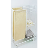 Laundry Cart with 3 tier storage on wheels - BayShoomar