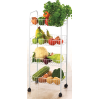 4 Tier White Multipurpose Cart - BayShoomar