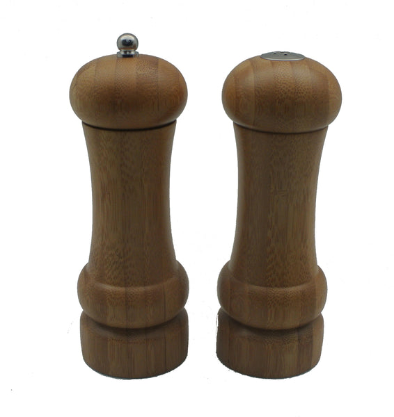 Pepper Mill and Salt Shaker Set Bamboo