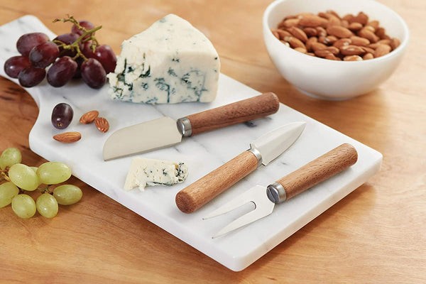 Cheese Knives [ Wood Handles Stainless Steel Knives] Set of 3