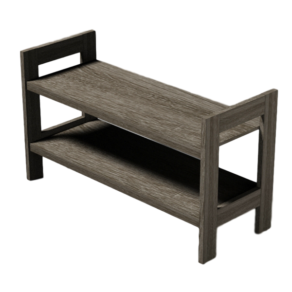 2 Tier Shoe Rack [Grey] - BayShoomar