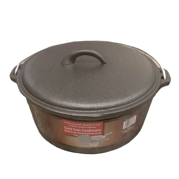 Dutch Oven 4.5 QT Cast Iron Pre-Seasoned - BayShoomar