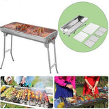 "Stainless Steel 29"" x 13"" Charcoal Portable BBQ Grill - BayShoomar"