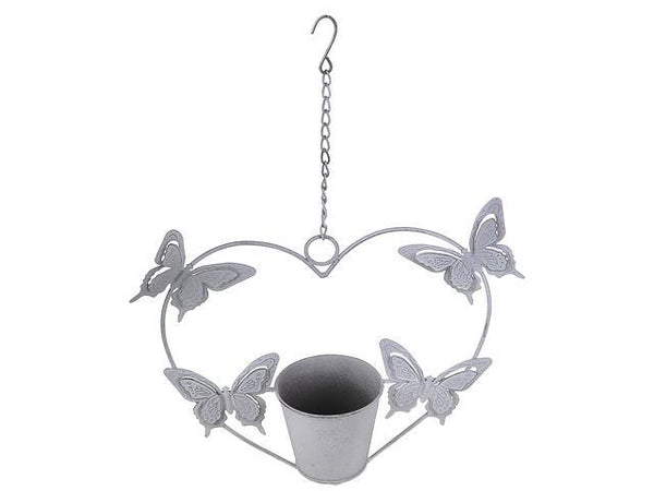 METAL HEART SHAPE HANGING GARDEN PLANTER - BayShoomar