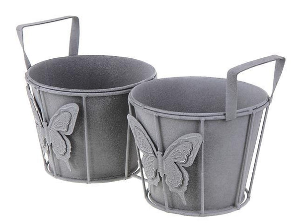 METAL DOUBLE GARDEN PLANTER - BayShoomar