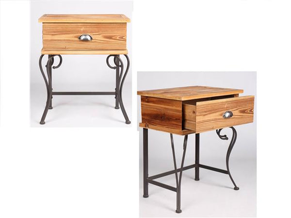 Side Table with 1 Drawer Howland - BayShoomar