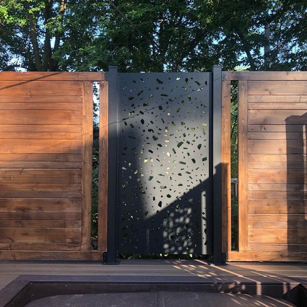River Rock Privacy Screen Panel