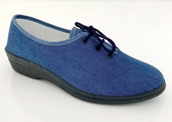 chaussures lacets toile jeans