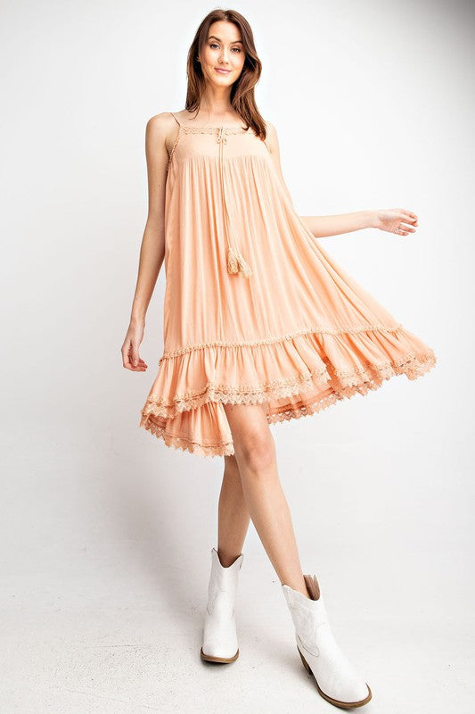 APRICOT TO GO DRESS