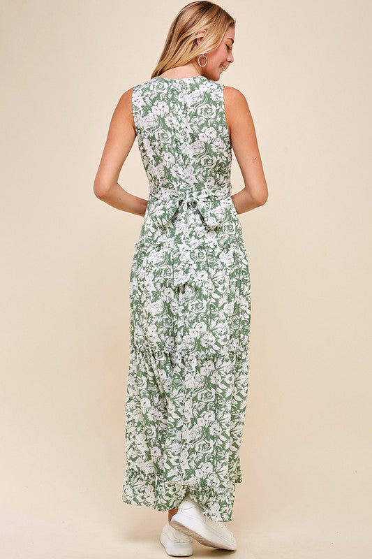 LEAF ME ALONE MAXI DRESS