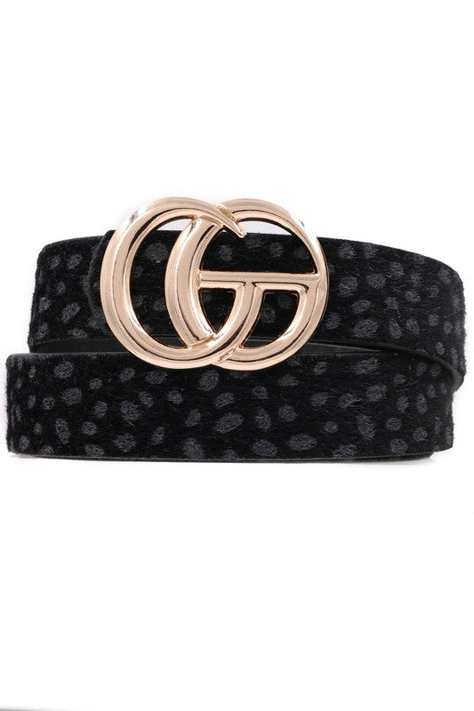 BLACK CHEETAH BELT