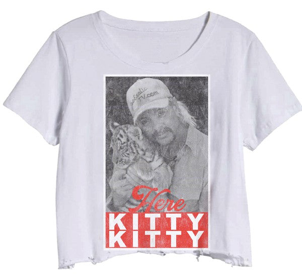 HERE KITTY CROP TOP