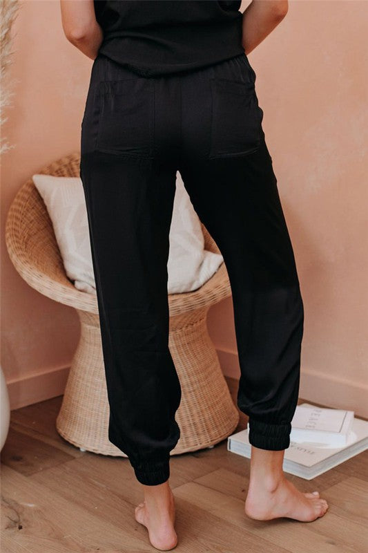 MORNING JOG SATIN PANT