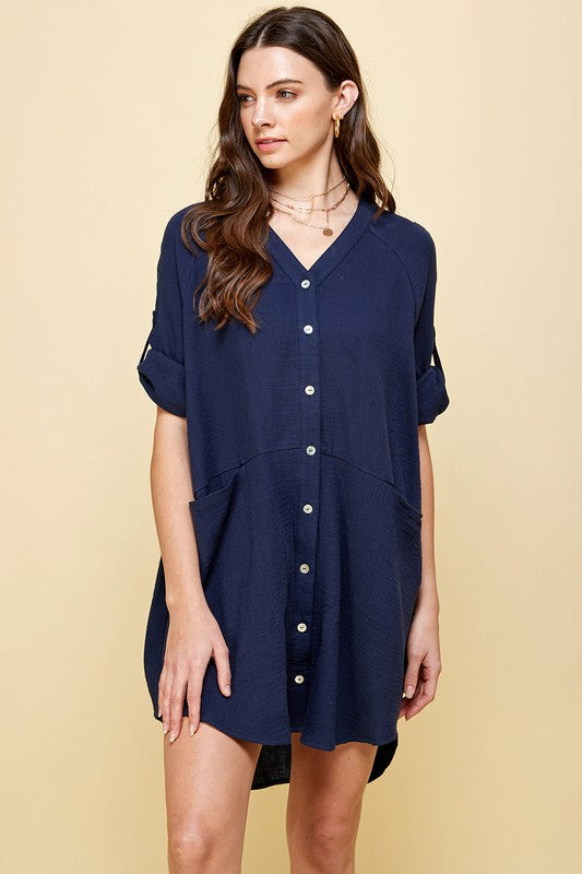 ONE MORE WON'T SHIRT DRESS