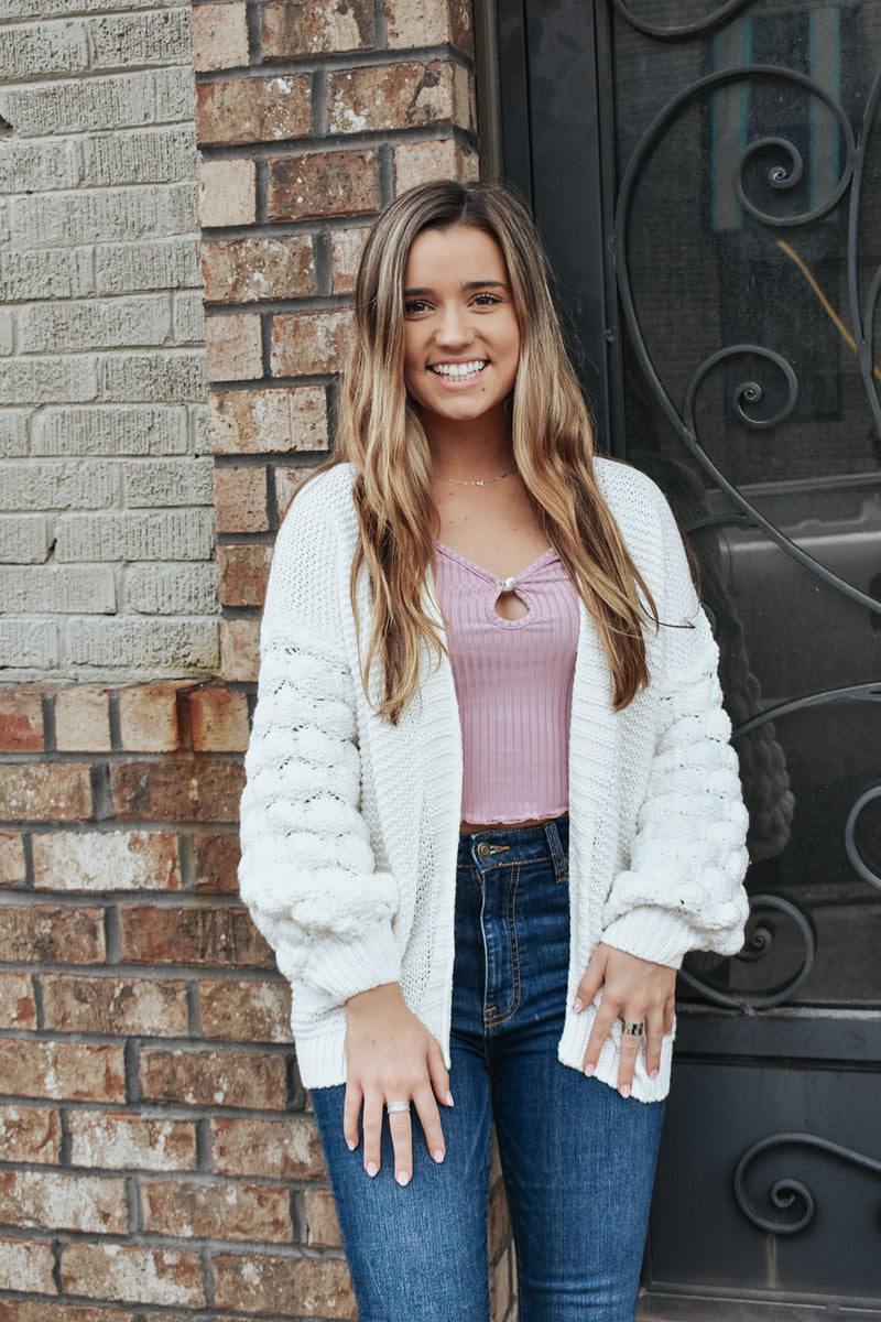 BUBBLE TROUBLE CARDIGAN
