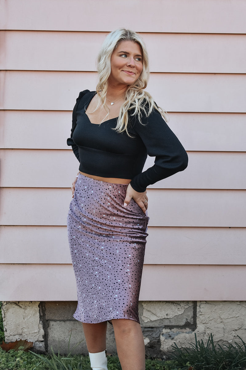 SATIN BLISS SKIRT