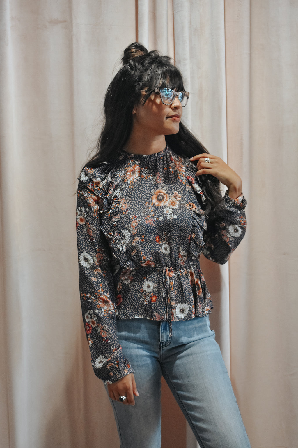 FALLING FAST FLORAL TOP