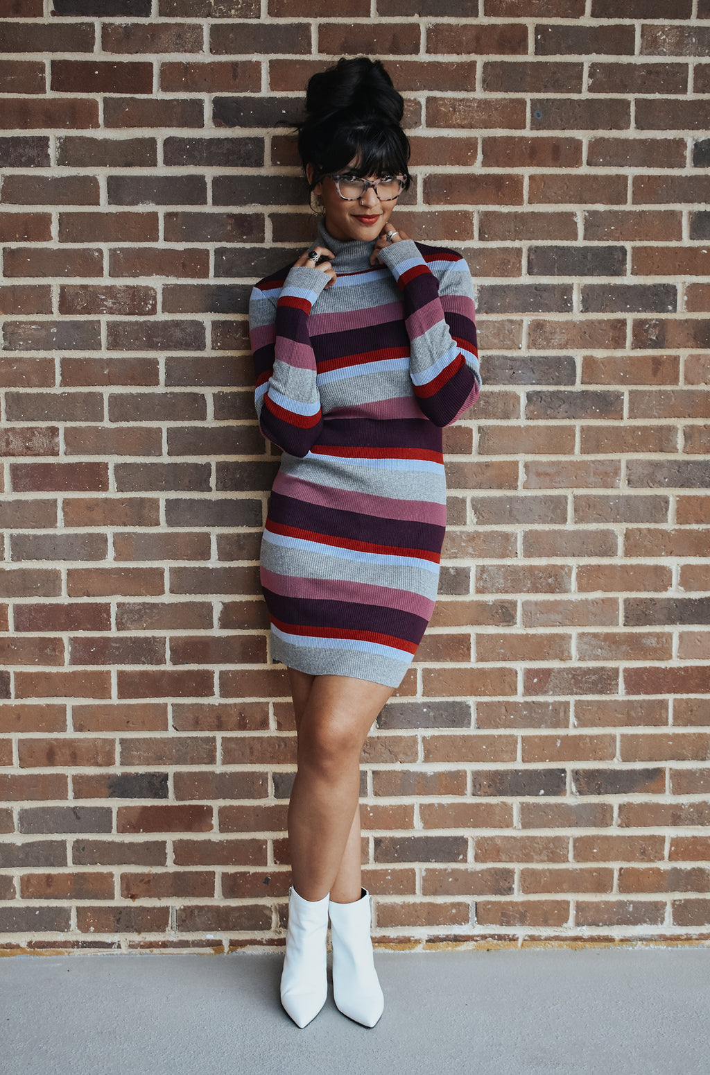JUST MY TYPE STRIPE DRESS