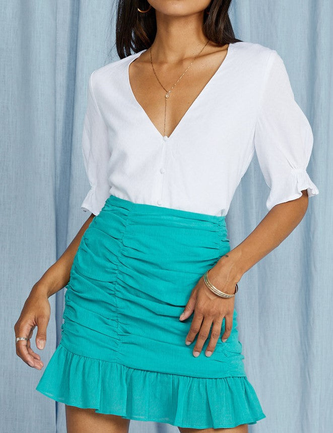 SEASIDE SEAFOAM SKIRT