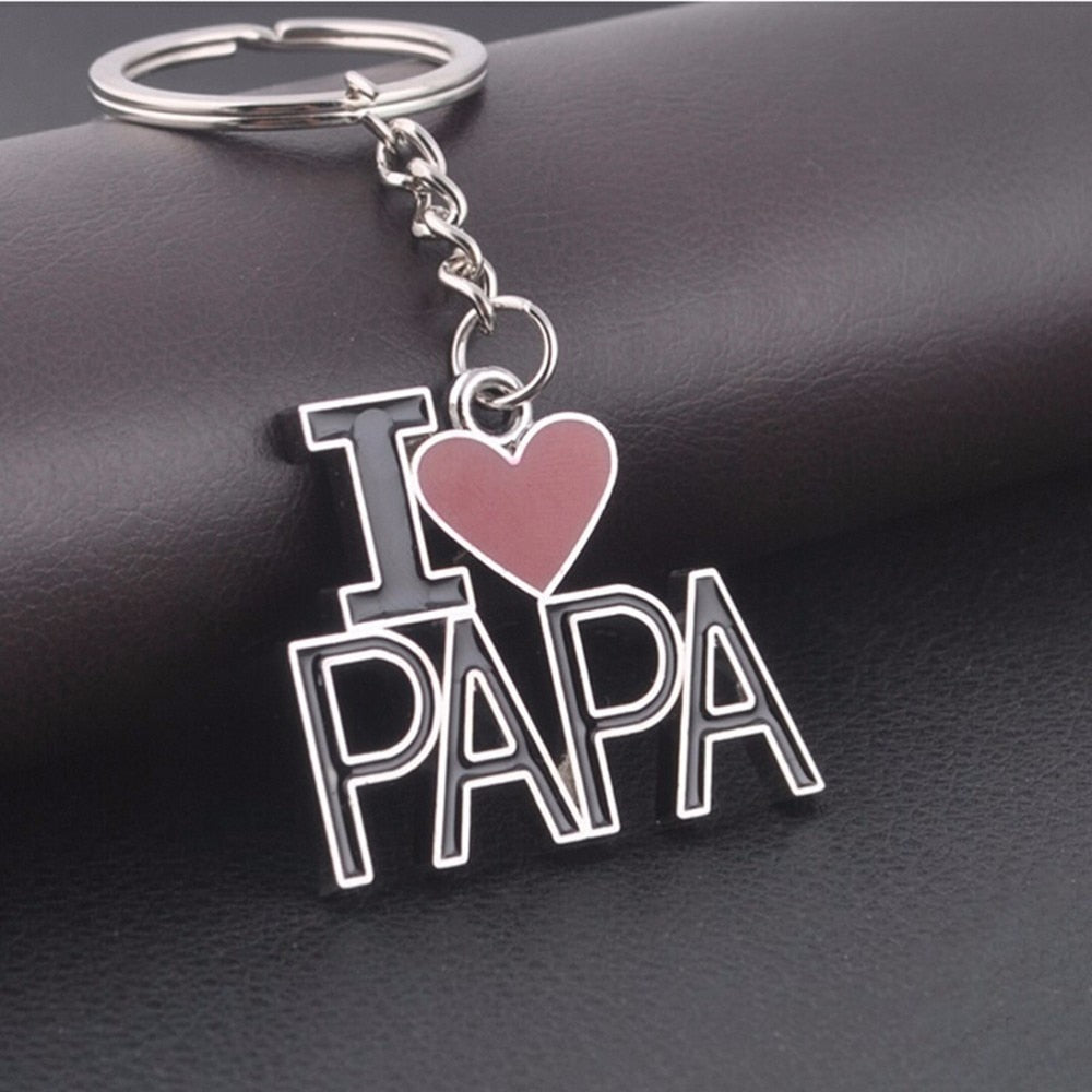 I Love mom & dad Key chain