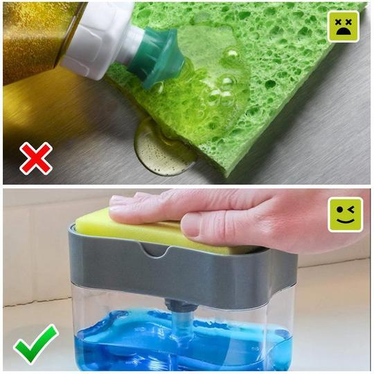 SOAP PUMP DISPENSER & SPONGE HOLDER