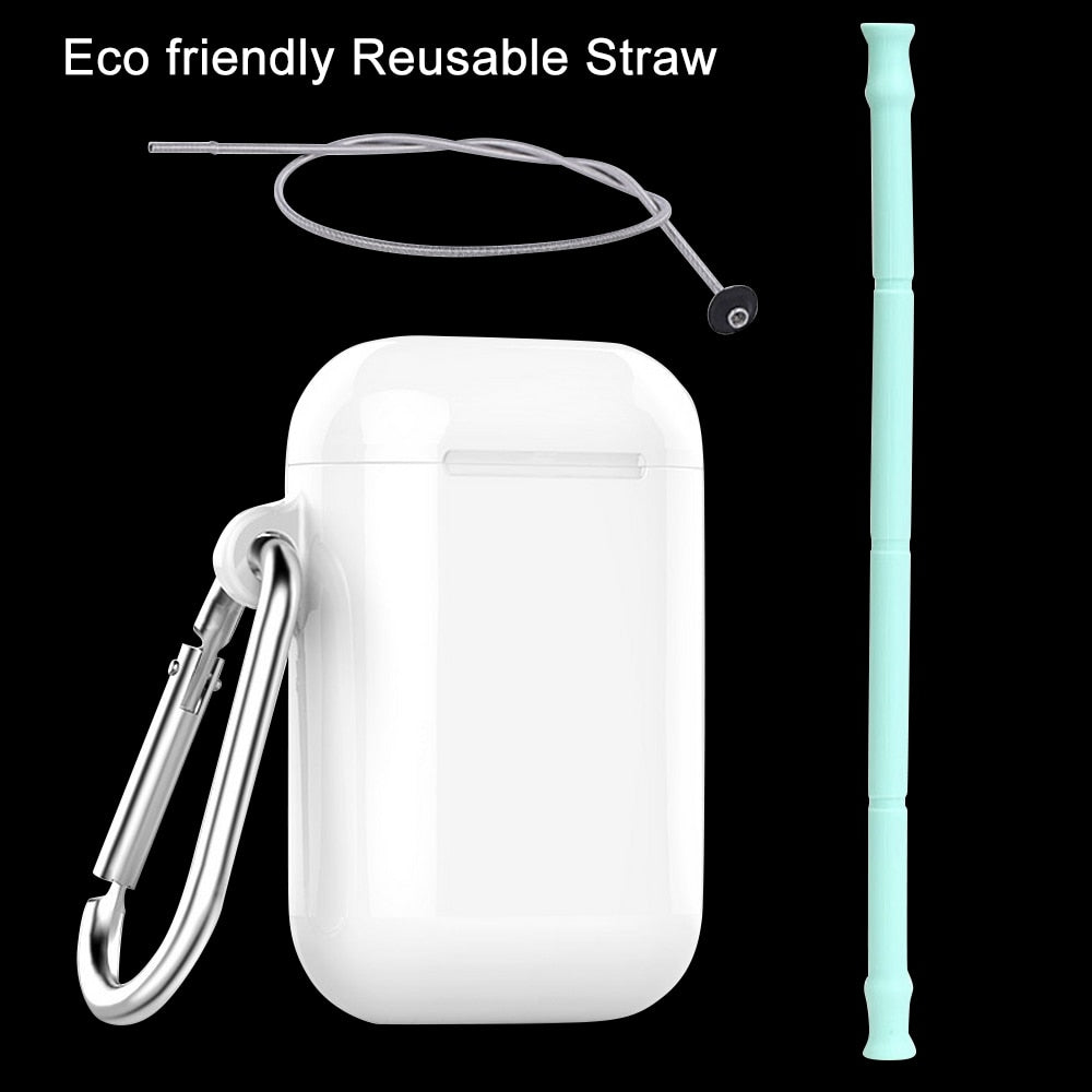 Collapsible Reusable Silicone Straw