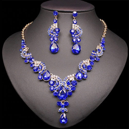Luxury Crystal Wedding Jewelry Sets