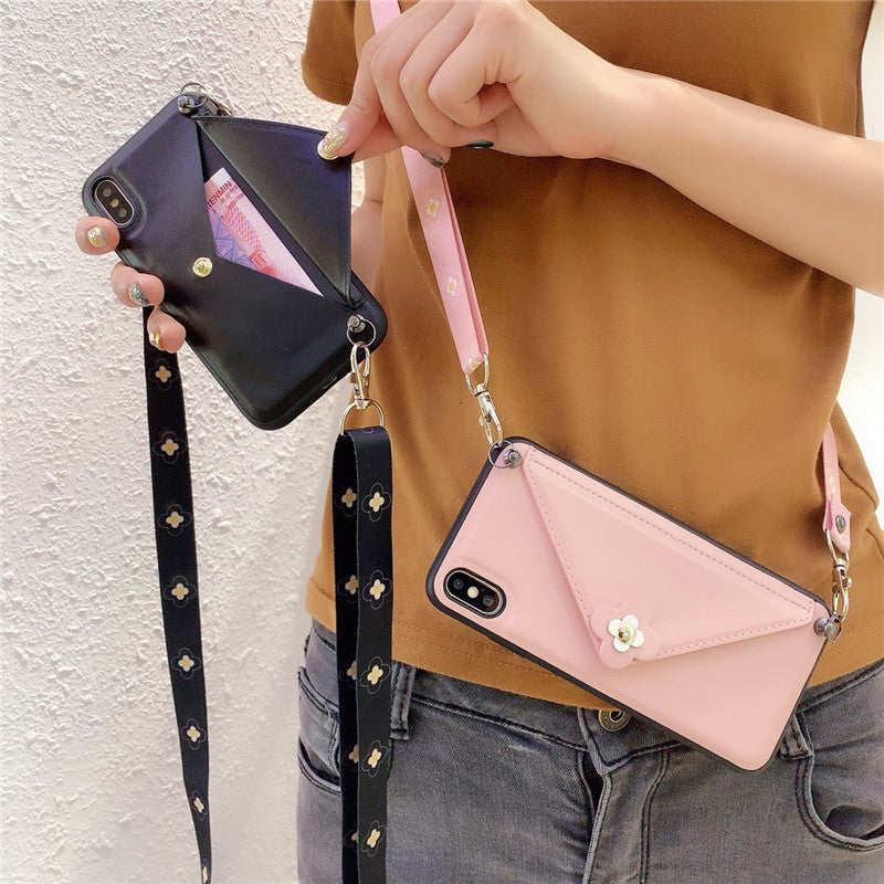 Wallet Crossbody Phone case for iPhone