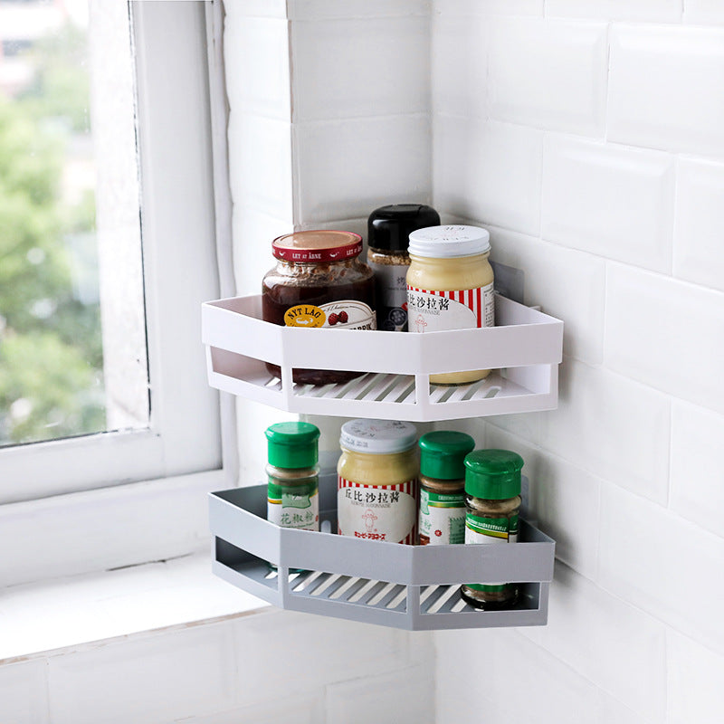 Bathroom Corner Shelf Adhesive Storage Rack