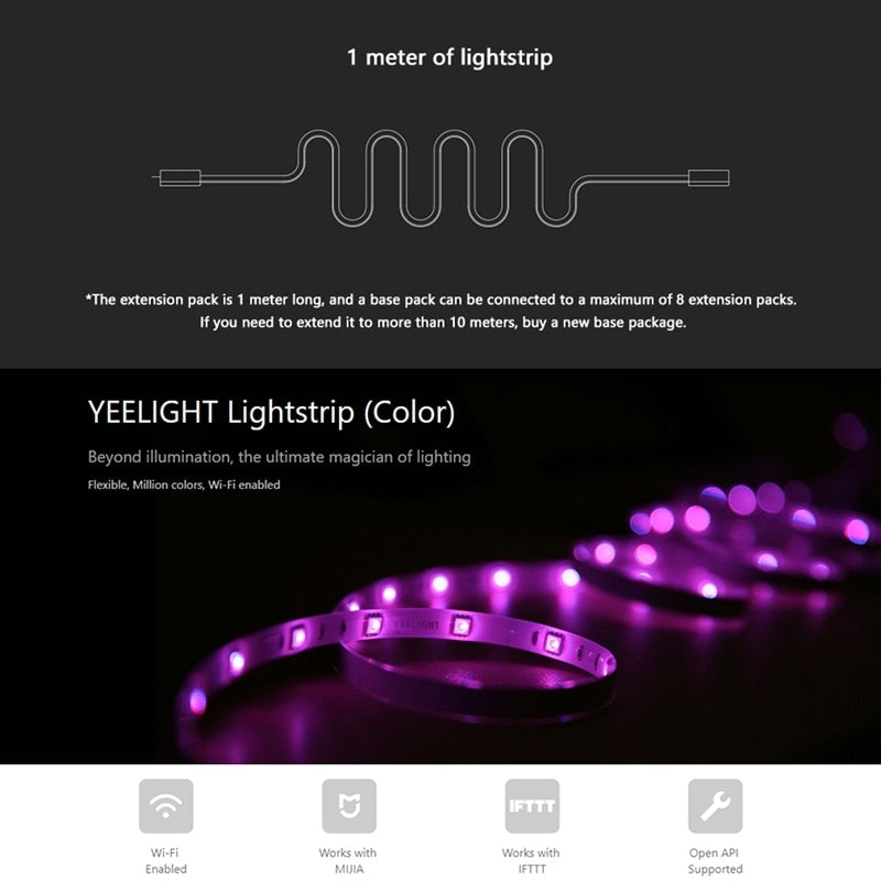 Smart LED lights strip band Wifi Remote control