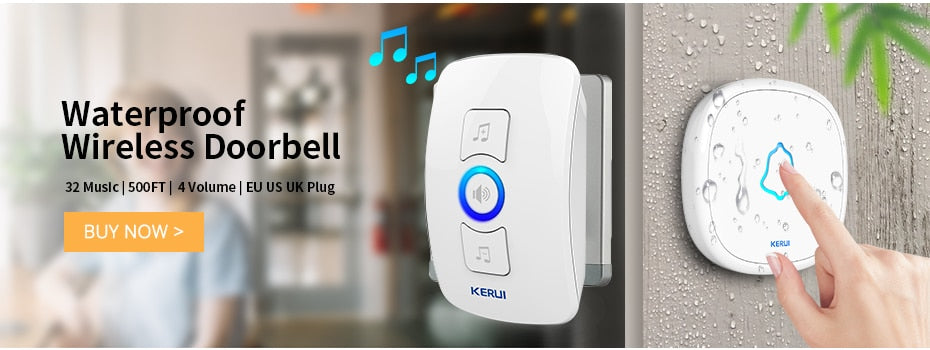 Wireless DoorBell with 32 Melodies